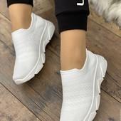 р.37 на ножку 24см летние белые кроссовки женские