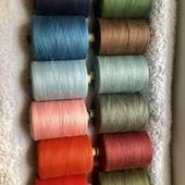 10 кольорів!Нитки швейні х/б №40 довжина 2500м