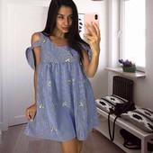 Платье котоновое с вышивкой