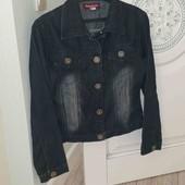 Куртка джинсовая M-L ПОГ 48см