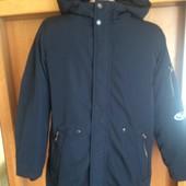 Kуртка, весна, внутри подстежка из шерпы, р. 10 лет 140 см, Zara kids состояние отличное