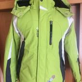 термо Куртка, весна, внутри флис, размер 10 лет 140 см, Etirel. состояние отличное