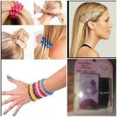 Резинки-пружинки+набор невидимок для волос не травмируют и не секут Ваши волосы.1+1