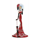 """Алмазная вышивка """"Дама в красном"""" 30*59 см Полная выкладка 59 на 30 см"""