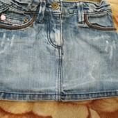 Юбка джинсовая 4-5 г. 110 рост. Смотрите замеры