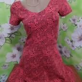 Очень красивое фактурное платье р-р С/М
