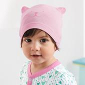 лот 2 шт. Детская шапочка из био-хлопка для малышки от Tchibo (германия) размер 48-50