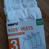 Комплект маек Pepperts Германия. 122-128см. В упаковке!