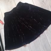 Игривая юбка мятый бархат очень классная