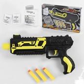 Пистолет XH 081 (64) 2 цвета, с орбизами и мягкими патронами, в коробке