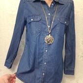 Шикарная джинсовая рубашка на кнопках Denim Coр.8 Новое состояние Акция читайте