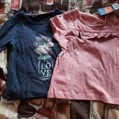 Новый комплект для девочки 2 вещи вместе реглан и футболочка