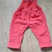 Вельветовые штанишки с подворотом lupilu германия на девочку 2-5 месяца.