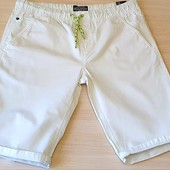 Котонові білі шорти на хлопчика, розмір 164 бренд c@a