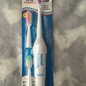 Зубная Щетка на Батарейках для всей семьи с 3-мя насадками!!!