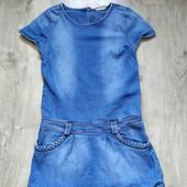 Джинсовое платье next на 12 лет в хорошем состоянии