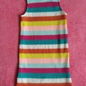 Сарафан-платье на подкладке на 8лет. Очень яркое, для весны или холодного лета.