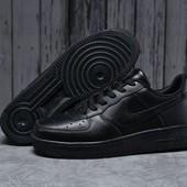 Мужские кожаные кроссовки nike air force 1