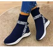 Кроссовки цвет синий. стрейч 23,5 и 24 см