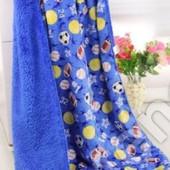 Детский флисовый двойной плед- одеяло