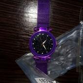 розпродаж годинників в лоті фіолетовий на магнітній застібці