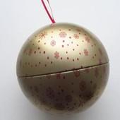 Новогодний шар-шкатулка. Ив роше. 10х11см