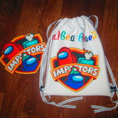 Всеми любимые красочные ,именные рюкзачки+Подарок нашивка на одежду!