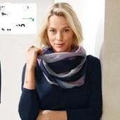 Красивая многоцветная шаль - снуд от Tchibo германия , размер 80 на 90 см