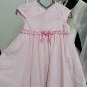 Платье на девочку 2-4года замеры на фото и