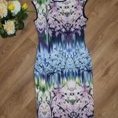Шикарное фирменное платье с фотопринтом, р.40-44, состояние нового. Много интересных лотов)