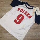 Польша! Cool club! Спортивная футболка на мальчика 104 рост!