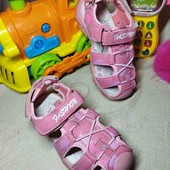 19.5 см. Спортивные розовые сандали босоножки с защитой носка
