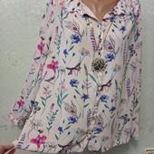 На шикарные формы! Шикарная нарядная пудровая блуза рубашка Акция читайте