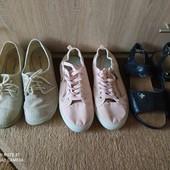 Мокасины, туфли, кеды, босоножки 38 размер