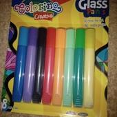 Набор красок /8 цветов/ для узоров на окнах и стекле.