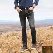 Стильные серые джинсы slim fit от livergy р.46