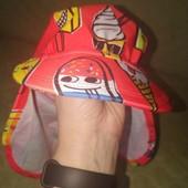 Пляжна кепка панамка з захистом шиї р.98-104 на 3-4 роки, захист від ультрафіолету