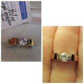 Шикарное кольцо серебро 925пр.+ золото 375 пр. Новое с биркой!