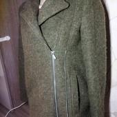 Шикарное пальто косуха. Zara. шерсть
