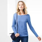 ☘ Ніжна блуза з тканої вставкою від Tchibo (Німеччина), наші розміри: 46-48 (40/42 євро)