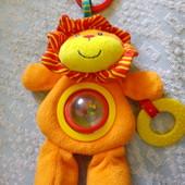 Подвеска-погремушка прорезыватель мягкая игрушка львенок Mothercare