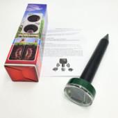 Отпугиватель грызунов кротов и насекомых аккумуляторный на солнечной батареи ультразвуковой