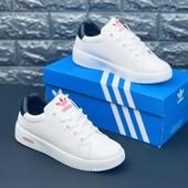 Белые кеды кроссовки Адидас Білі кеди кросівки Адідас Adidas