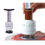 Тендерайзер для мяса 2 в 1: отбивание мяса + шприц для маринада