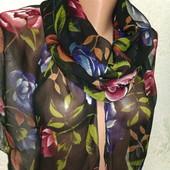Шикарный нарядный яркий воздушный шарф палантин 160/35 Новый Акция читайте