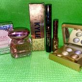 Лот для стильной леди: тушь для ресниц, подводка Kylie, кремовые тени, парфюм Versace 50 ml