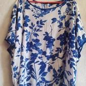 Яркая летняя блузка большого размера Marks & Spencer