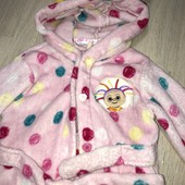 Плюшевый халат на малышку 2/3 годика