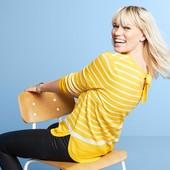 ☘ Смугастий м'який светр з бантом від Tchibo (Німеччина), розміри наші: 50-54 (44/46 євро)