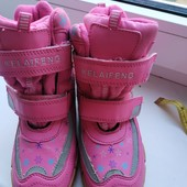 Зимние ботиночки на девочку 30-19 см. Состояние отличное